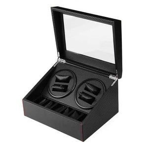 Automatic Watch Winder Carbon Fiber Jewelry Storage Case Watches Display Box - Cozzoo