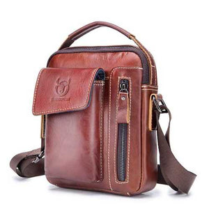 Bullcaptain Genuine Leather Business Messenger Bag - Cozzoo