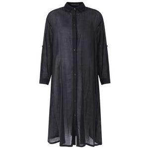 Women Causal Button Down Long Sleeve Dress - Cozzoo
