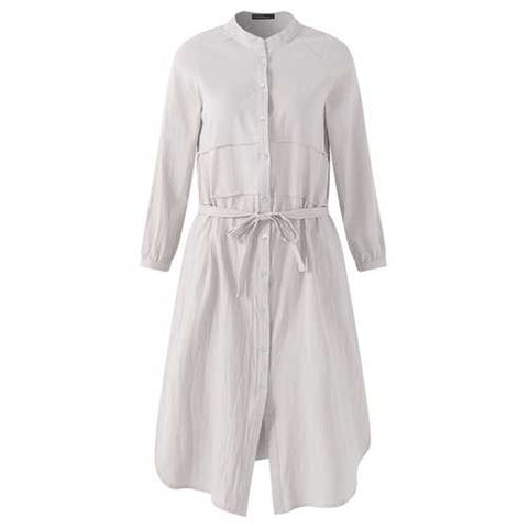 S-5XL Button Down Shirt Dress - Cozzoo