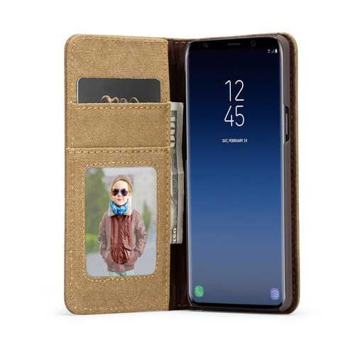 Caseme Canvas Magnetic Flip Bracket Wallet Protective Case For Samsung Galaxy S9 Plus - Cozzoo