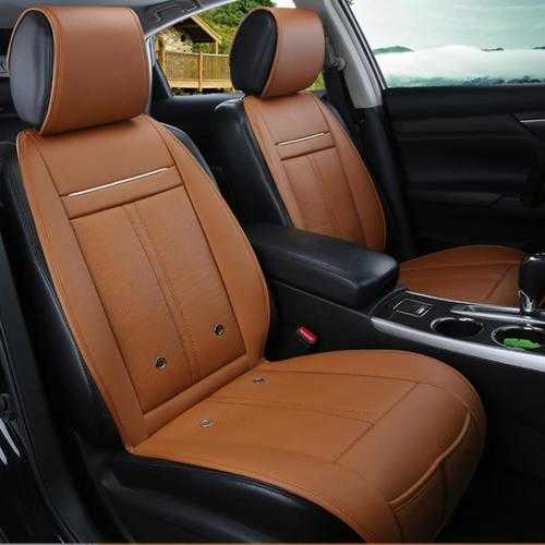 3 In 1 Leather Car Cooling Warm Heated Massage Chair Seat Cushion Universal Auto Cover
