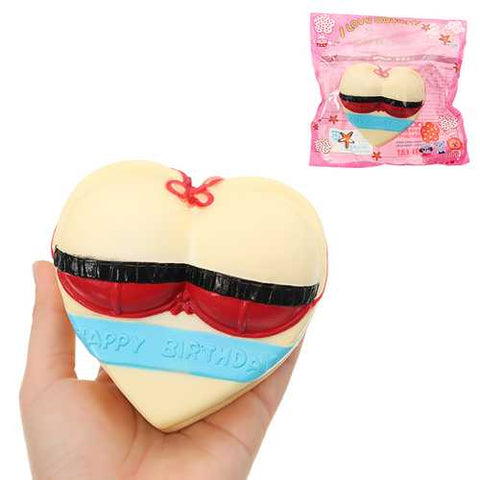 Swimsuit Love Cake Squishy 10*5*11cm Slow Rising With Packaging Collection Gift Soft Toy - Cozzoo