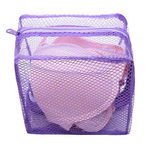 Mesh Laundry Bag Washing Clothes Zipper Solid Net For Bras And Lingerie - Cozzoo