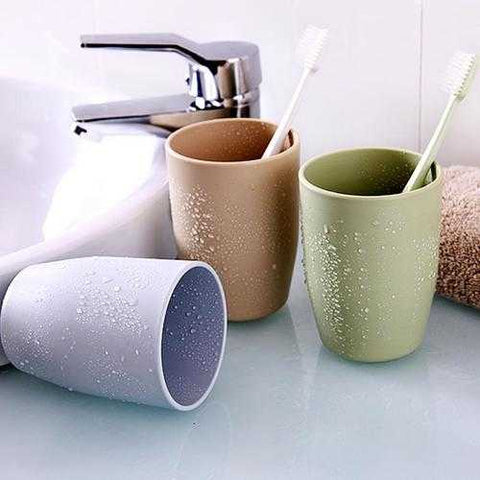 Honana Home Bathroom 350ml Simple Design Couple PP Material Tooth Mug Brush Holder Washing Tooth Cup - Cozzoo