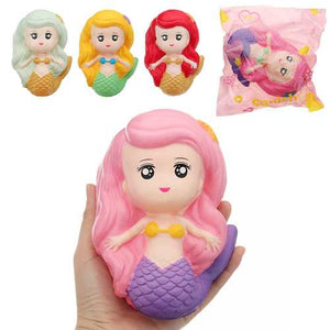 Mermaid Squishy 15*9.5CM Slow Rising With Packaging Collection Gift Soft Toy - Cozzoo