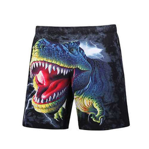 S5251 Beach Shorts Board Shorts 3D Funny Dinosaur Printing Fast Drying Waterproof - Cozzoo