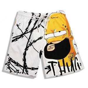 S5262 Beach Shorts Board Shorts 3D Old man Cartoon Printing Fast Drying Waterproof Elasticity - Cozzoo
