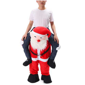 Christmas Unisex Dwarf Carry Me Fancy Piggy Back Ride On Dress Mascot Costume Party Pants - Cozzoo