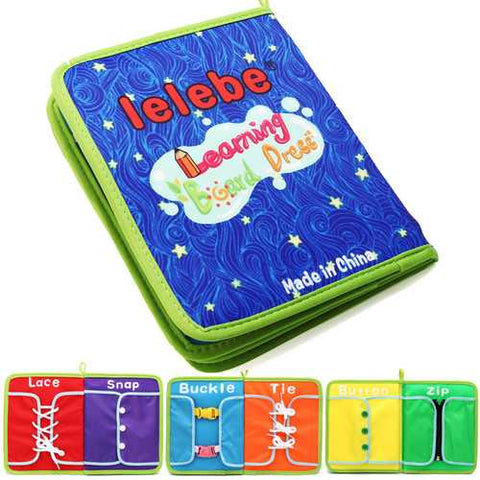 Montessori Learn Dress Boards Quick Book Early Learning Basic Life Skills Toys - Cozzoo