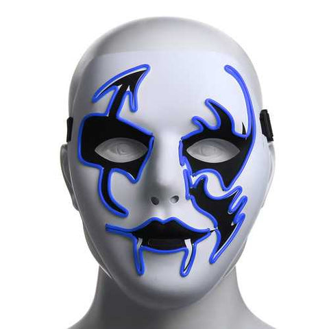 Halloween Mask LED Luminous Flashing Face Mask Party Masks Light Up Dance Halloween Cosplay - Cozzoo