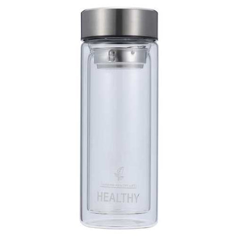 300ml Double Wall Water Glass Bottle Mug Filtration Water Bottles - Cozzoo