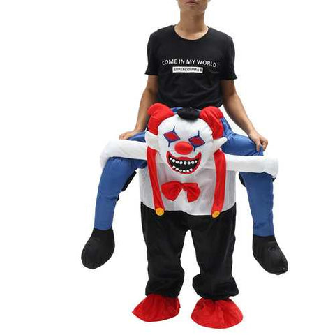 Devil Clown Unisex Dwarf Carry Me Fancy Piggy Back Ride On Dress Mascot Costume Party Pants - Cozzoo