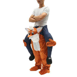 Carry Me Bear Fox Mascot Costume Pants Ride On Piggy Back Adults Fancy Dress - Cozzoo