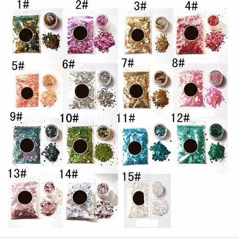 14 Styles eye glitter Eyeshadow makeup Shimmer Beauty cosmetic make up glitter Mermaid festival art Pigment maquiagem maquillaje - Cozzoo