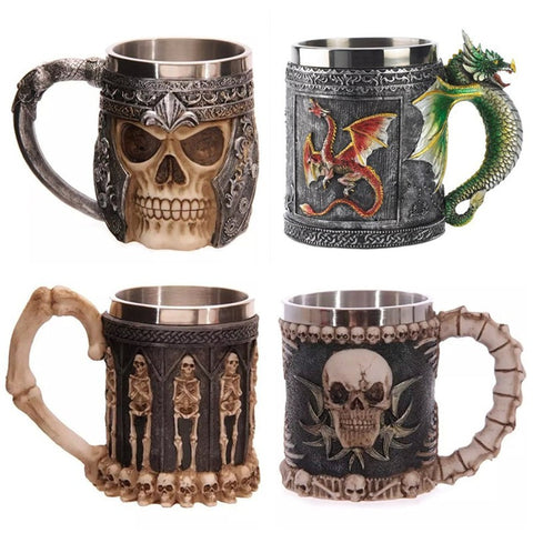 400ML 3D Skull Mugs Coffee Tea Bottle - Cozzoo