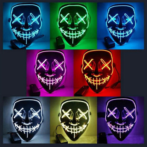 LED Cold Light Grimace Glow Mask - Cozzoo
