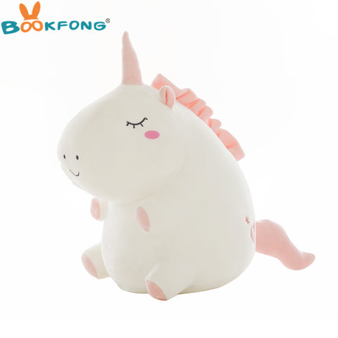 1pc Cute Unicorn Plush Toy Fat Unicorn Doll Cute Animal Stuffed Soft Pillow Baby Kids Toys For Girl Birthday Christmas Gift