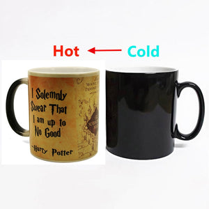 2018 New 1Pcs Magic Mug Harry Hot Drink Cup Color Changing Mug Potter Marauders Map Mischief Managed Wine Tea Cup Creative Gifts - Cozzoo