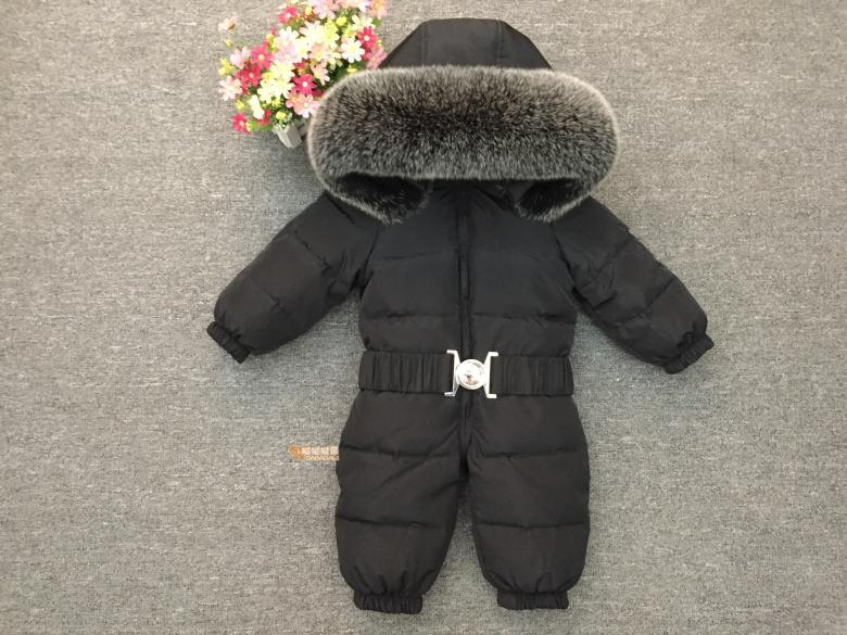 9d060adc3 offer discounts 083b0 58e10 winter baby rompers warm duck down ...
