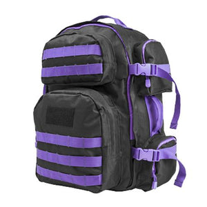 Tactical Backpack Black w/Purple - Cozzoo