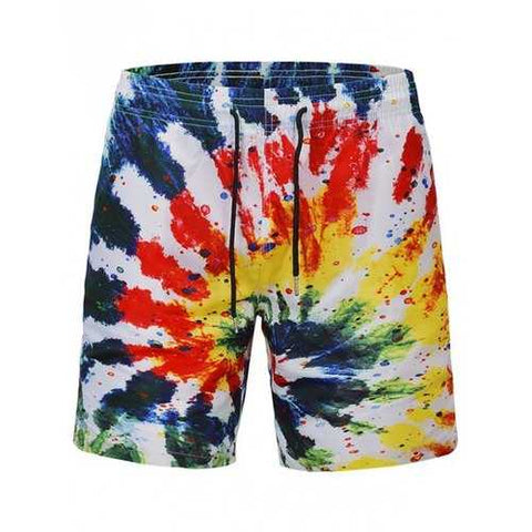 Graffiti Printed Quick Dry Beach Shorts - L - Cozzoo