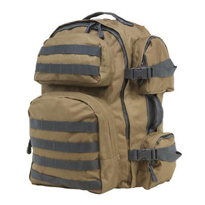 Tactical Backpack Tan with Urban Gray Trim - Cozzoo