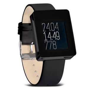 Wellograph Activity Wellness Watch & Activity Tracker, Black Chrome - Cozzoo