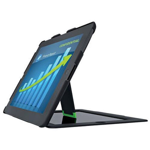 Leitz Landscape View Privacy Case w/ Stand for iPad 2/3/4, Black - Cozzoo