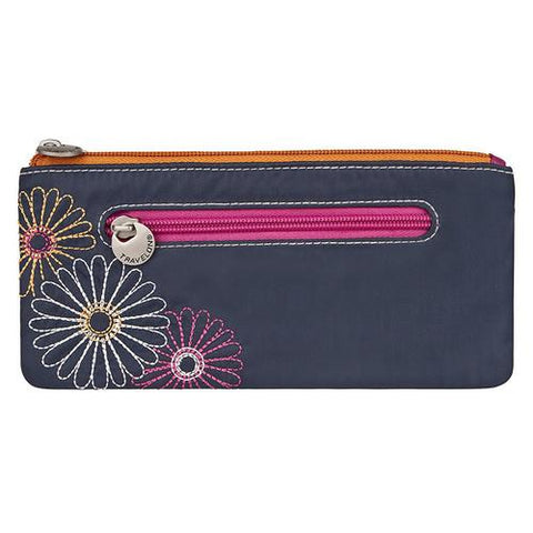 Travelon Safe ID Double Zip Clutch Wallet, Navy - Cozzoo