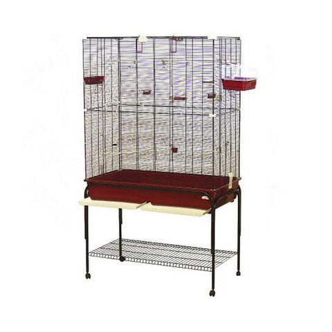 Marchioro Delfi 102 Birdcage with Stand for Small Birds (73.3 x 47.3 x 22.8) - Cozzoo