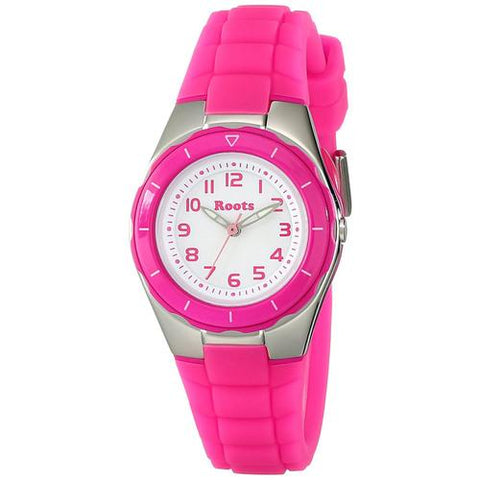 "Roots Women""s Saturna Analog Sports Watch, Pink - Cozzoo"