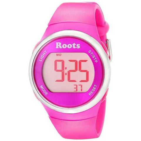 Roots Cayley Womens Resin Strap Digital Chronograph Watch Backlight Alarm Pink - Cozzoo