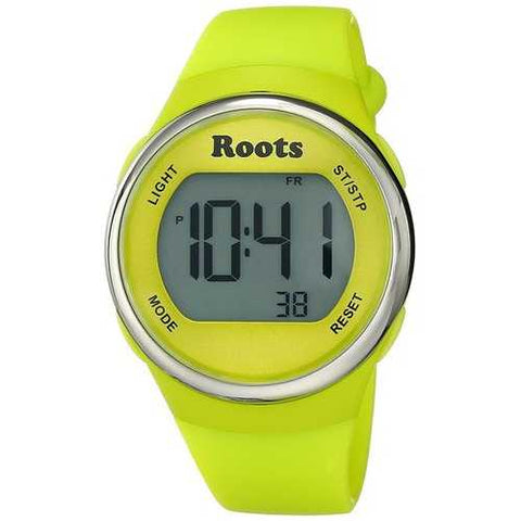 Roots Cayley Womens Resin Strap Digital Chronograph Watch Backlight Alarm Yellow - Cozzoo