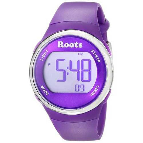 Roots Cayley Womens Resin Strap Digital Chronograph Watch Backlight Alarm Purple - Cozzoo