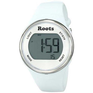 Roots Cayley Womens Resin Strap Digital Chronograph Watch Backlight Alarm White - Cozzoo