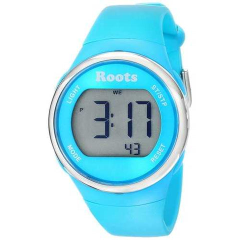 Roots Cayley Womens Resin Strap Digital Chronograph Watch Backlight Alarm Aqua - Cozzoo