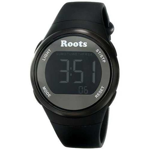 Roots Cayley Womens Resin Strap Digital Chronograph Watch Backlight Alarm Black - Cozzoo