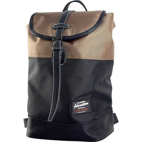 Travelers Club Sport 14 Laptop Business Travel Backpack Daypack Black/Brown - Cozzoo