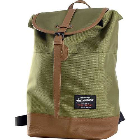 Travelers Club Sport 14 Laptop Computer Business Travel Backpack Daypack Green - Cozzoo