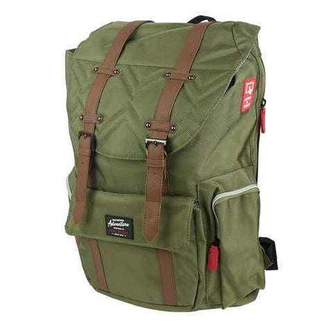 Travelers Club Scout 18 Laptop Computer Business Travel Backpack Daypack Green - Cozzoo