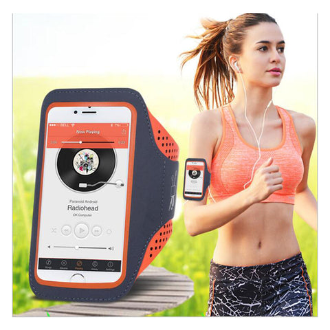 5.5'' Waterproof Sports Jogging Gym Armband Running Bag Touch Screen Cell Phone Arm Wrist Band Hand Mobile Phone Case Holder - Cozzoo