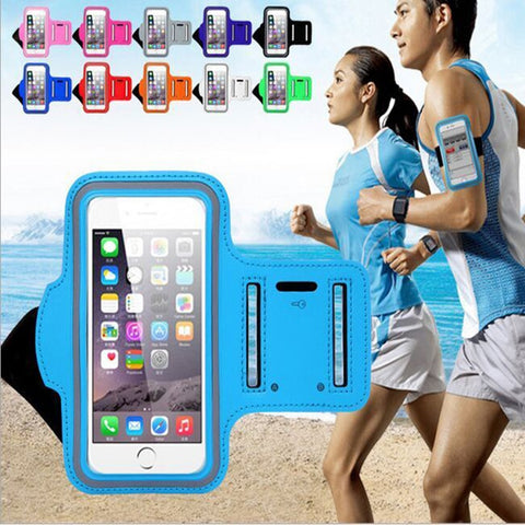 5.5 inches New Waterproof Sports Running Case Workout Holder Pouch For Iphone 6/7 Plus Cell Phone Arm Bag Band GYM free shipping - Cozzoo