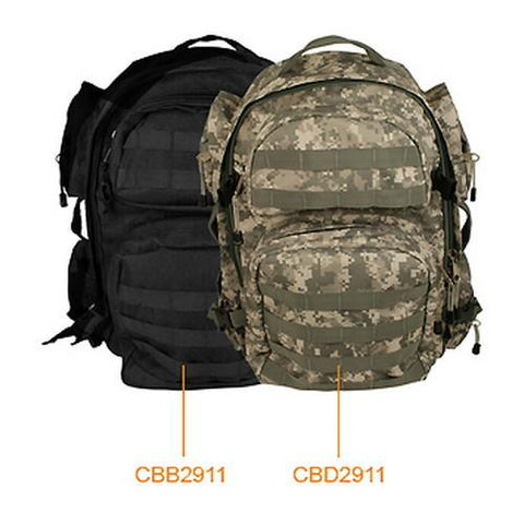 Tactical Backpack Black - Cozzoo