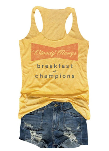 Bloody Marys Breakfast of Champions Tank Tops Funny Shirt - Cozzoo