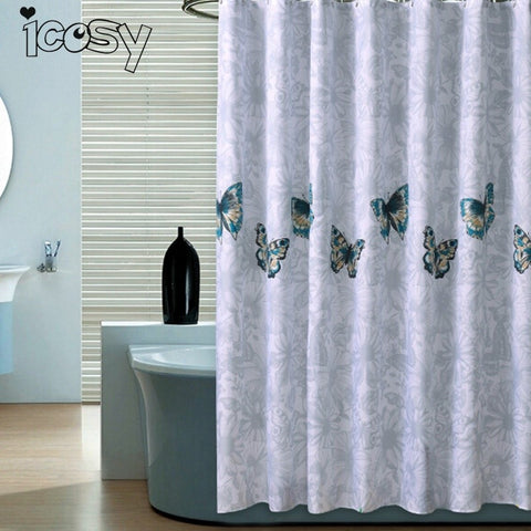 80x180cm Shower Curtains Waterproof Polyester Fabric Bathroom Pastoral Scenic Shower Curtain Mould Proof Bathroom Decor M3D15 - Cozzoo