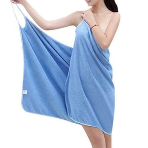 Honana BX-910 Soft Shoulder Straps Lady Wearable Bath Towel Beach Cloth Magic Dress Spa Bathrobe Bath Wrap Skirt - Cozzoo