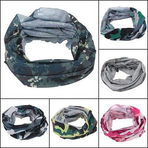 Multi Camouflage Scarf Cycling Bike Neck Face Mask Hat Cap Headwear - Cozzoo