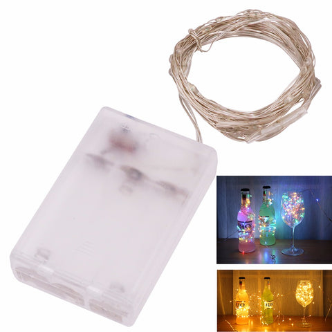AA Battery Powered 2M 3M 5M 10M 100 led Christmas Holiday Wedding Party Decoration Festi Copper Led String Fairy Light Lamp
