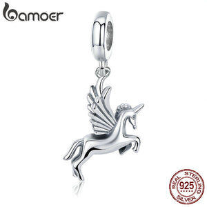 BAMOER Authentic 100% 925 Sterling Silver Trendy  Memory Charm Pendant fit Women charm Bracelet DIY Jewelry Making SCC704